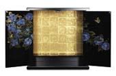 ミニ仏壇 紫陽花  ※ご注文いただいてから約4週間後のお届けとなります。